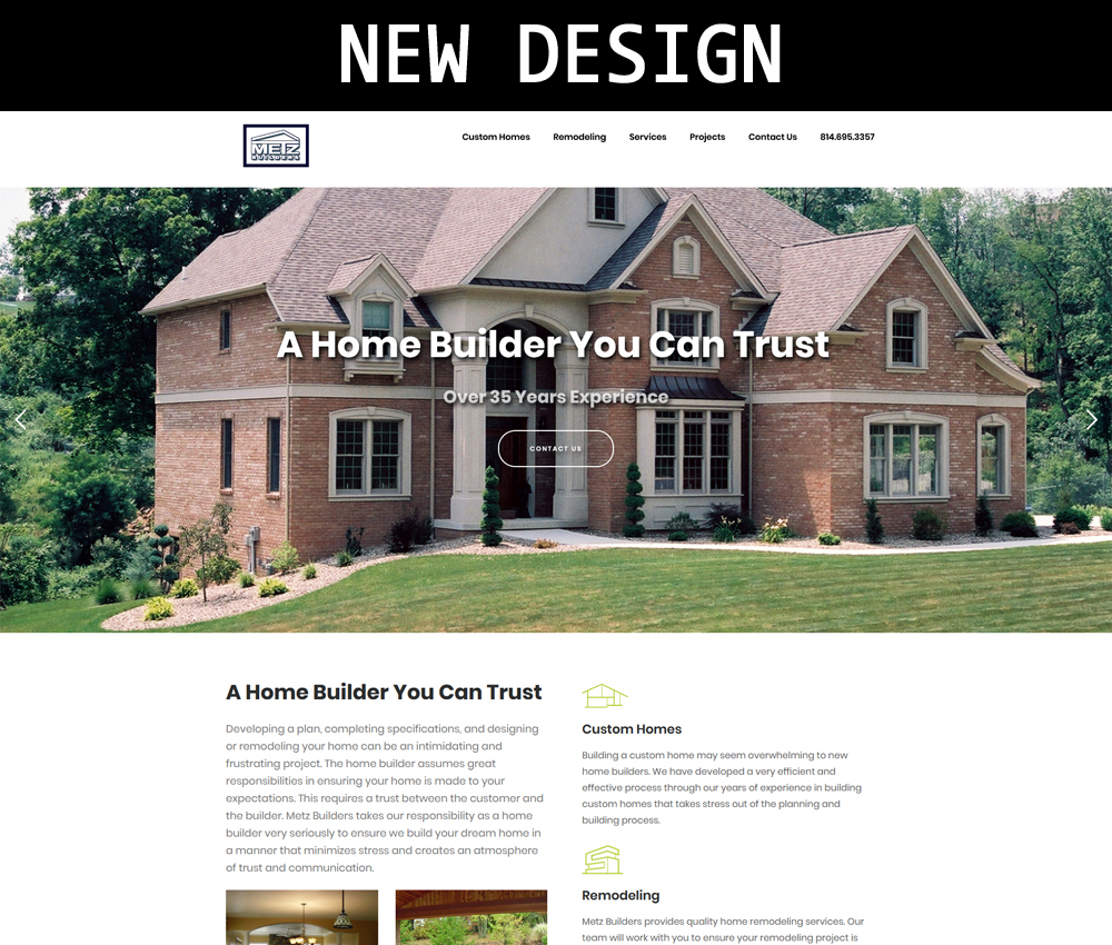 Metz Builder New Website