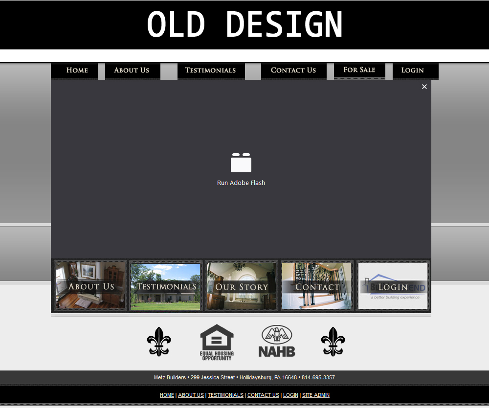 Metz Builder Old Website